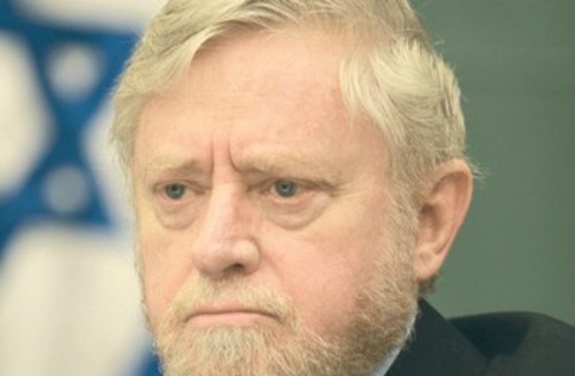 State Comptroller Joseph Shapira 370 (photo credit: Israel Sellem/The Jerusalem Post)