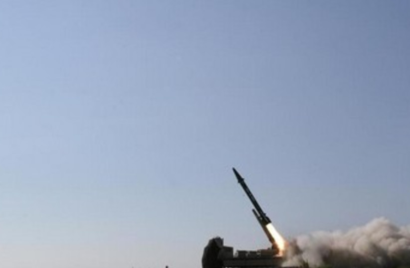 Iranian ballistic missile 370 (photo credit: REUTERS/Fars News/Handout)