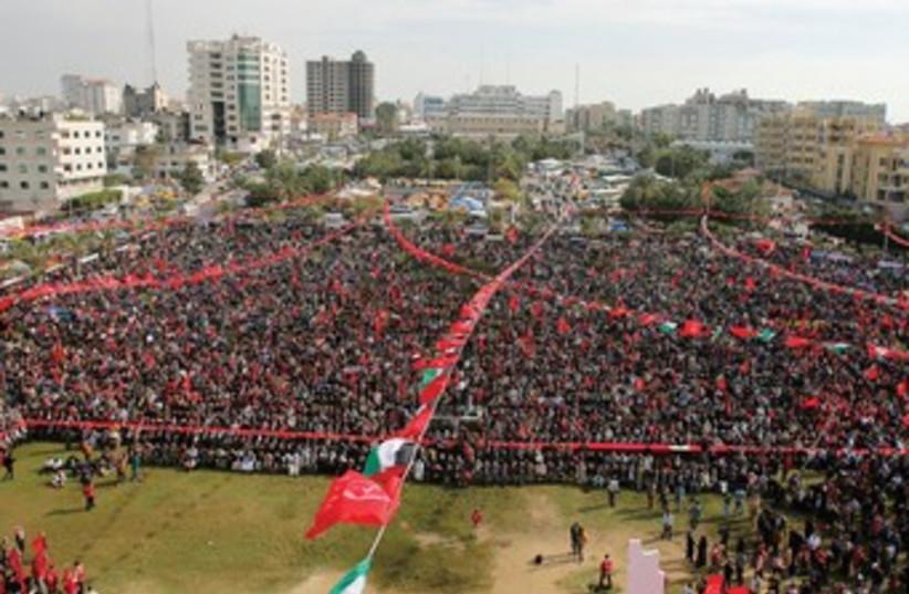 Arial gaza rally 370 (photo credit: REUTERS)