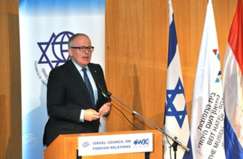 Dutch Foreign Minister Frans Timmermans 370 (photo credit: Andres Lacko)
