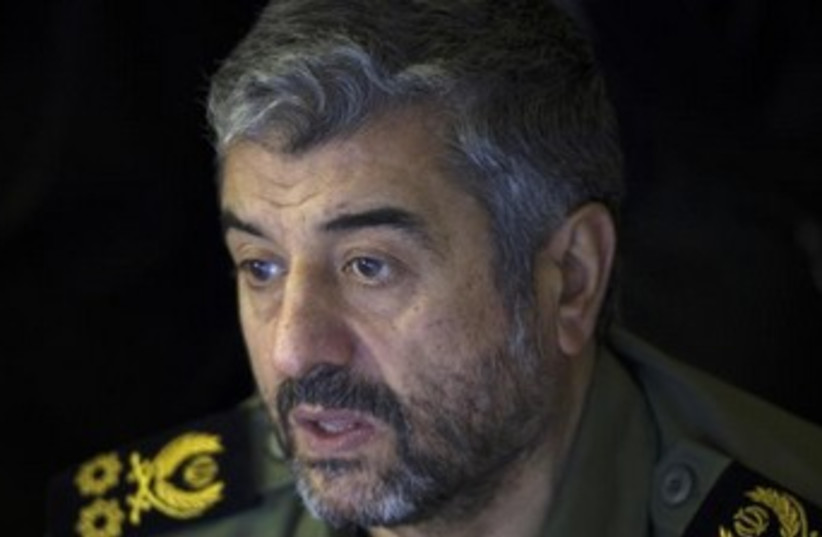 Iran Revolutionary Guards commander Mohammad Ali Jafari 370 (photo credit: REUTERS)