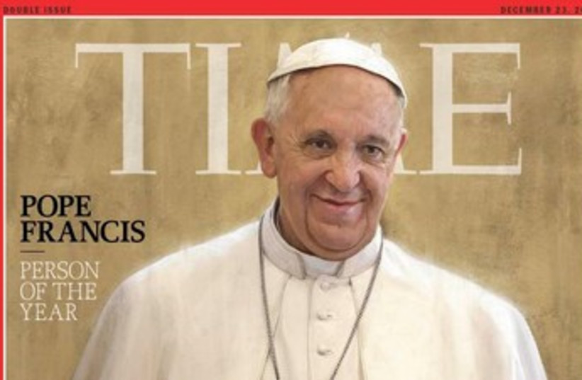 Pope Francis Time cover 370 (photo credit: Time)