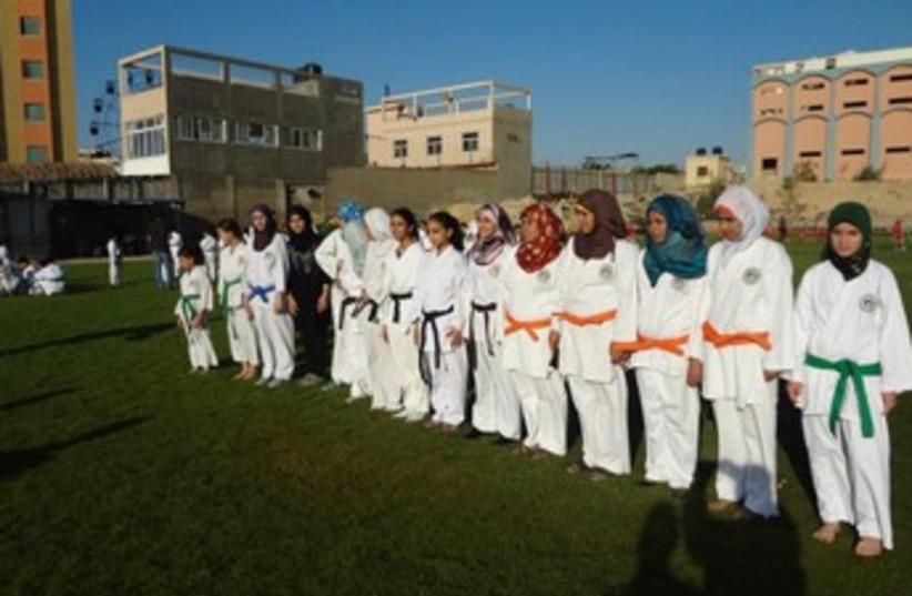Gaza karate class 370 (photo credit: Courtesy The Media Line)
