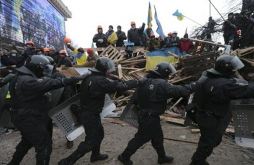 Protests in Ukraine 370 (photo credit: REUTERS/Konstantin Chernichkin)