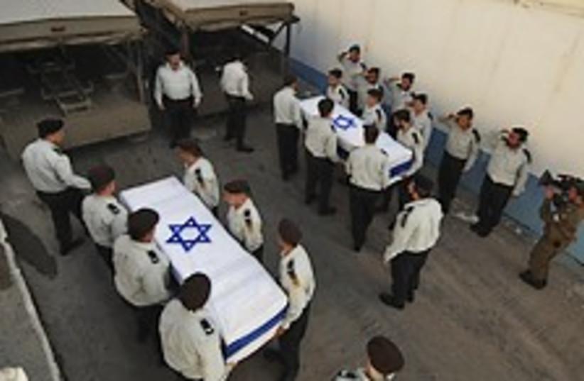 regev goldwasser coffins (photo credit: IDF)