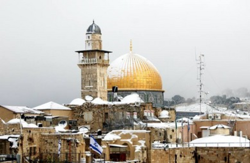 Dome of the Rock covered in snow, Jerusalem  390 (photo credit: Fabio Kalla)