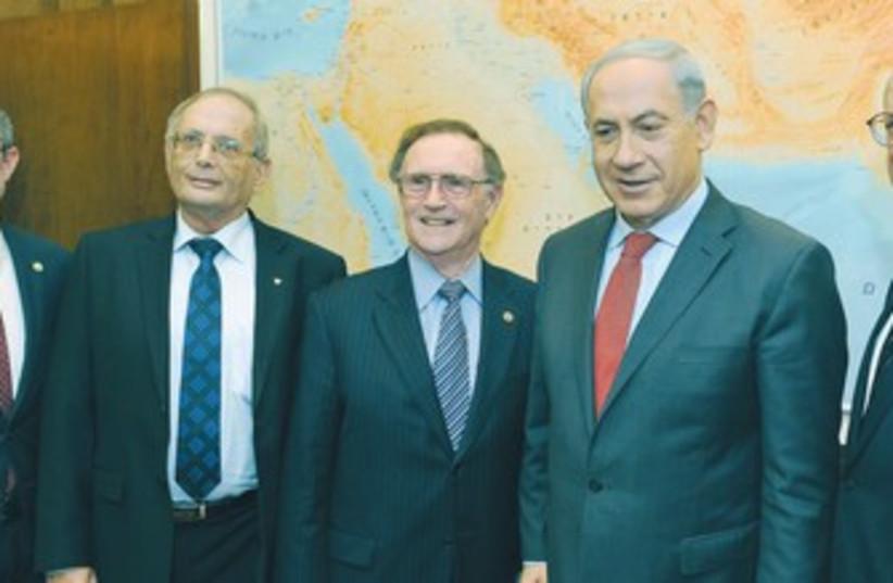 B'nai Brit leaders with Netanyahu 370 (photo credit: courtesy)