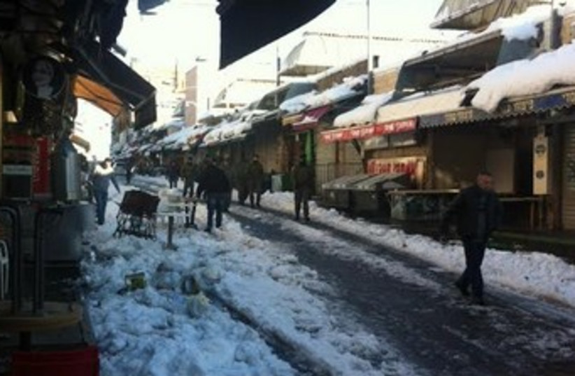 Jerusalem market after snowstorm 370 (photo credit: Seth J. Frantzman)