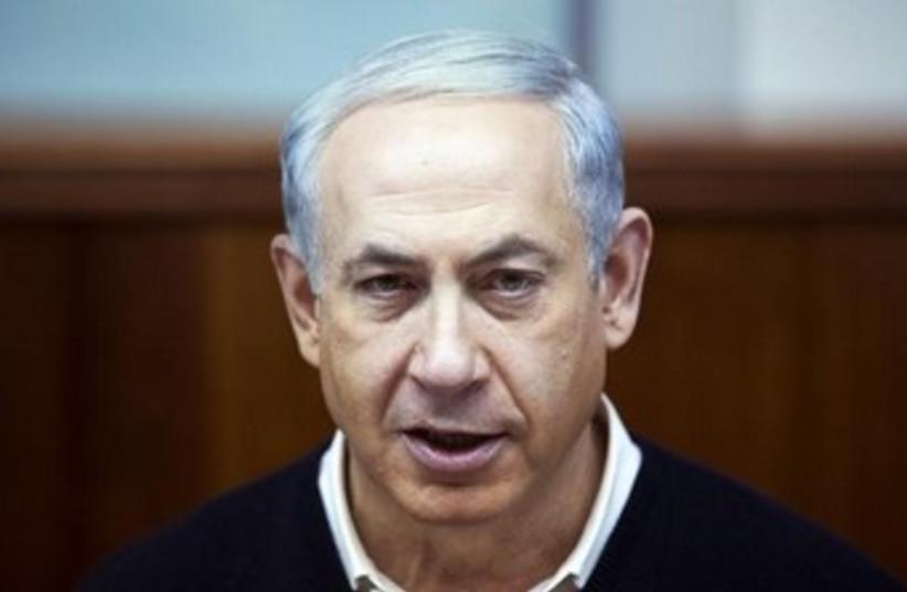 Netanyahu at Cabinet meeting Dec 15 370 (photo credit: Reuters)