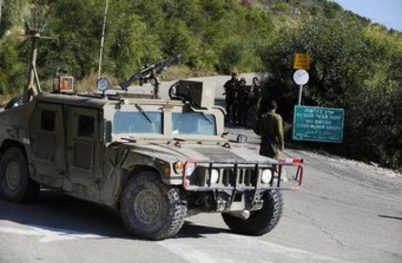 IDF troops on duty near Rosh Hanikra 370 (photo credit: Reuters)