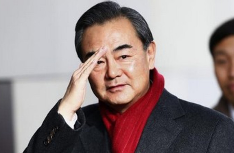 Chinese Foreign Minister Wang Yi 370 (photo credit: Reuters)