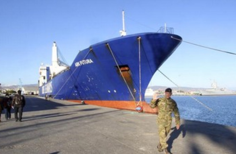 Cargo ships to transfer chemcial weapons from Syria 370 (photo credit: Reuters)