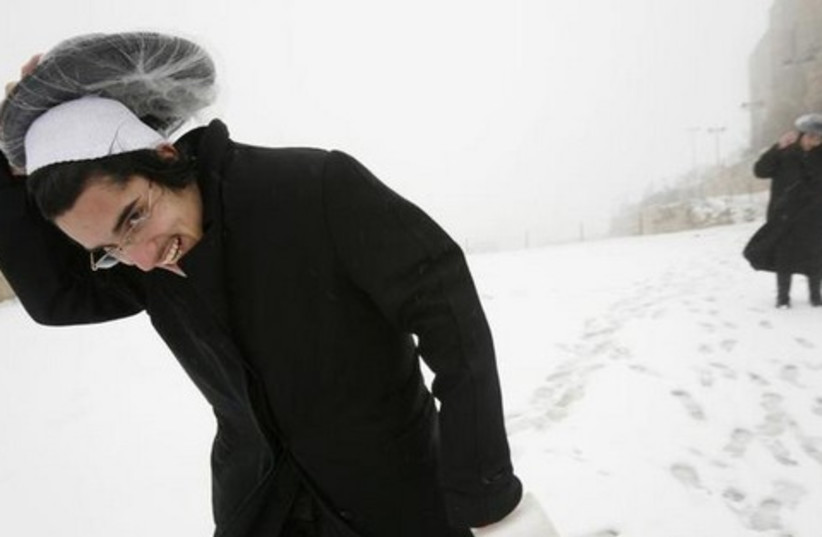 orthodox snow 521 (photo credit: REUTERS)