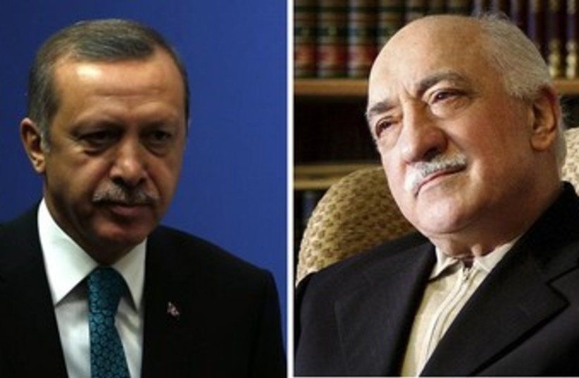 Tayyip Erdogan, Fethullah Gulen split screen 370 (photo credit: Reuters)