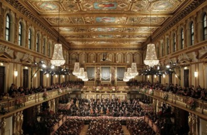 Vienna Philharmonic Orchestra at the Musikverein in Vienna (photo credit: REUTERS)