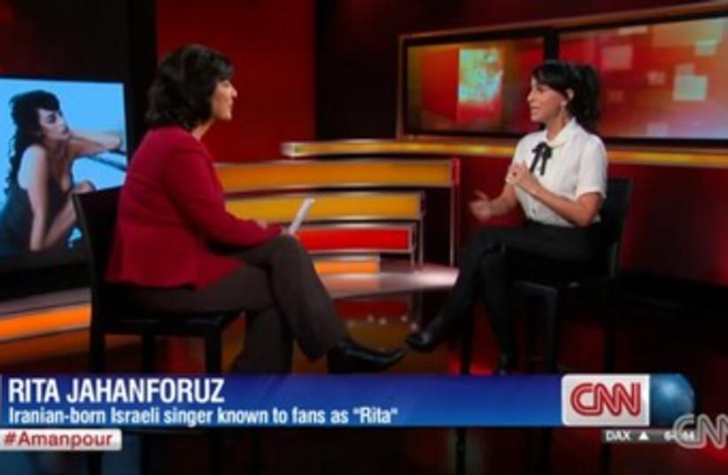Rita on CNN (photo credit: Screenshot)