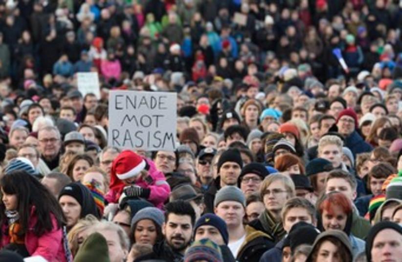 sweden protest 370 (photo credit: Reuters)