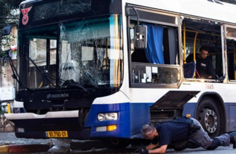 Bat Yam bus bombing 370 (photo credit: REUTERS/Nir Elias)