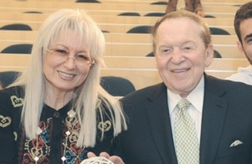 Miriam and Sheldon Adelson 370 (photo credit: Adi Cohen Tzedek)