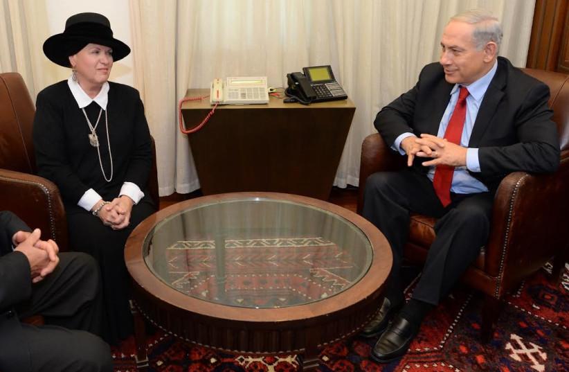 Netanyahu meets with Esther Pollard 370 (photo credit: Kobe Gideon/ GPO)