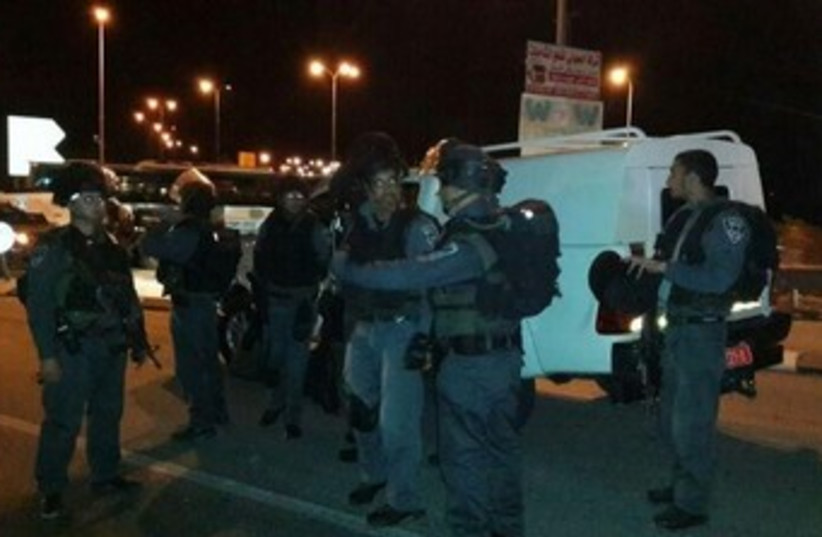 Police units searching Adam area (photo credit: Israel Police)