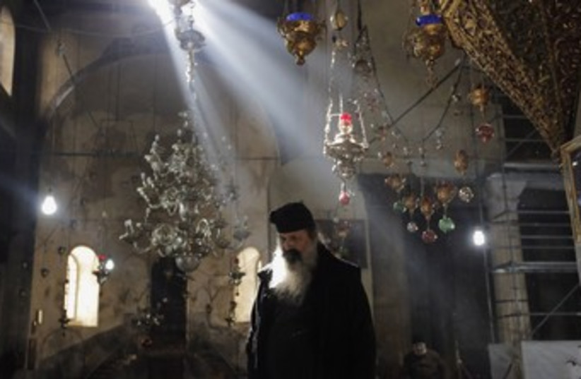 Church of the Nativity in Brthlehem 370 (photo credit: REUTERS)