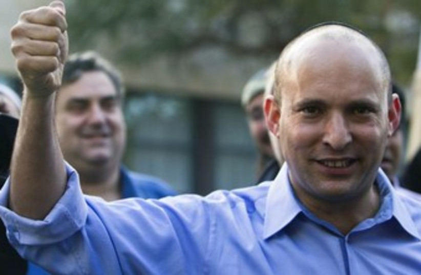 Economy Minister Naftali Bennett (photo credit: REUTERS)