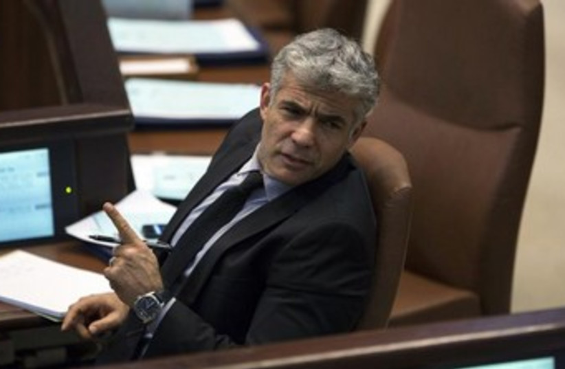 Yair Lapid  (photo credit: Reuters)