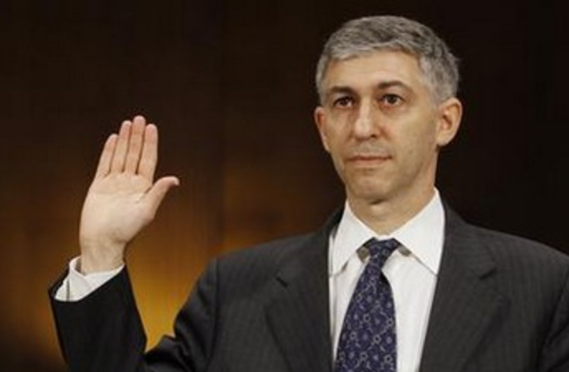 Stuart Levey swearing in 370 (photo credit: REUTERS)