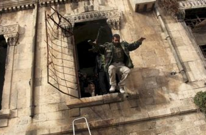A Free Syrian Army fighter in Aleppo (photo credit: REUTERS)