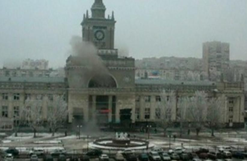 Suicide bombing at Volgograd, Russia (photo credit: REUTERS)