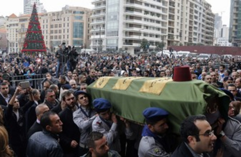 Funeral of former Lebanese minister Mohamad Chatah. (photo credit: reuters)