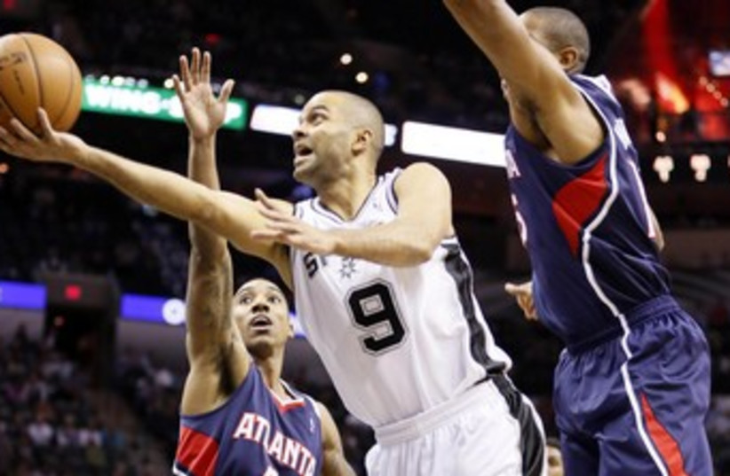 French basketball star Tony Parker of the San Antonio Spurs (photo credit: Reuters)