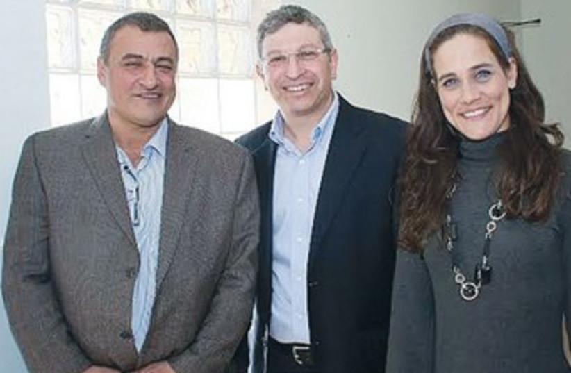 YOSSI SILMAN (left), Bat Melech, Noah Korman and Zilit Jacob (photo credit: David Hochberg)