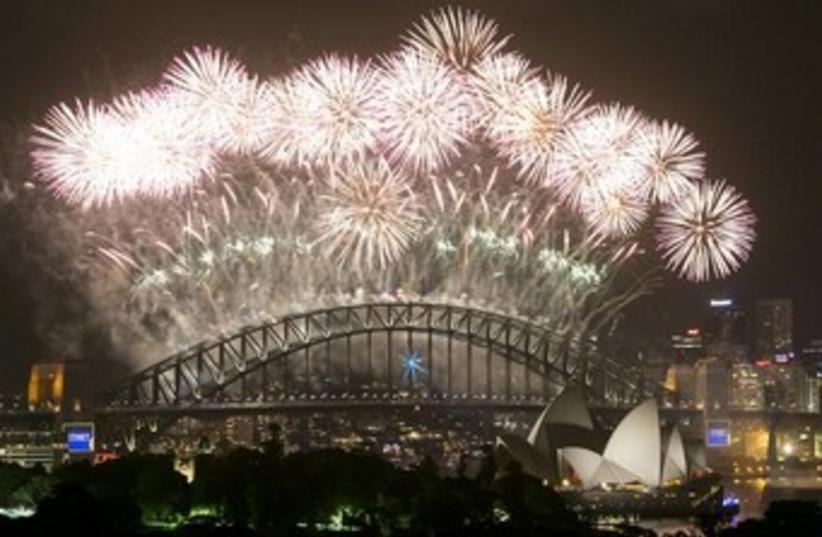 New Year's 2014 celebrations, Sydney. (photo credit: reuters)