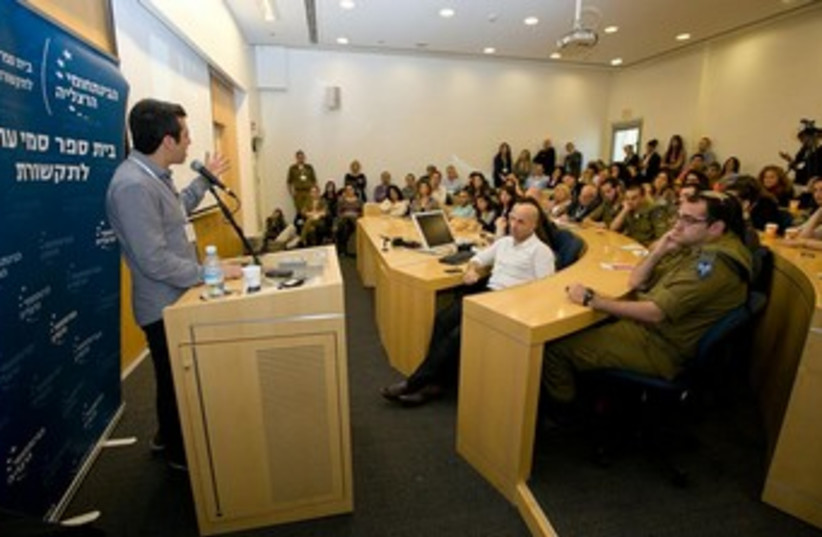 Media master class with Channel 10's Guy Lerer at the IDC. (photo credit: Courtesy)