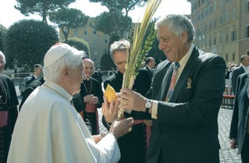 RABBI MARK WINER with then-Pope Benedict XVI in 2006. (photo credit: Courtesy)