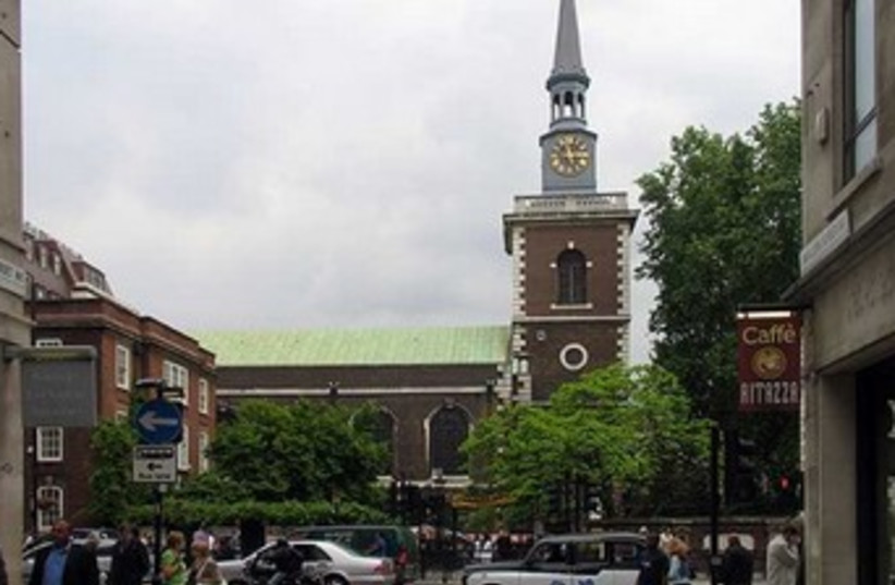 St. James Church, Piccadilly, London. (photo credit: Wikimedia Commons)