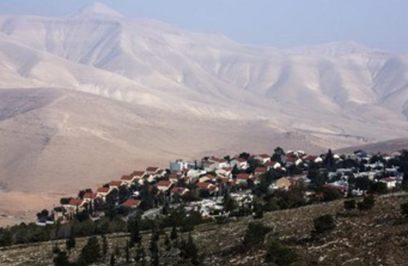 A view of the Jewish settlement of Maale Ephraim. (photo credit: Reuters)