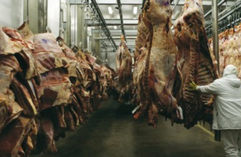 Meat factory. [File] (photo credit: reuters)