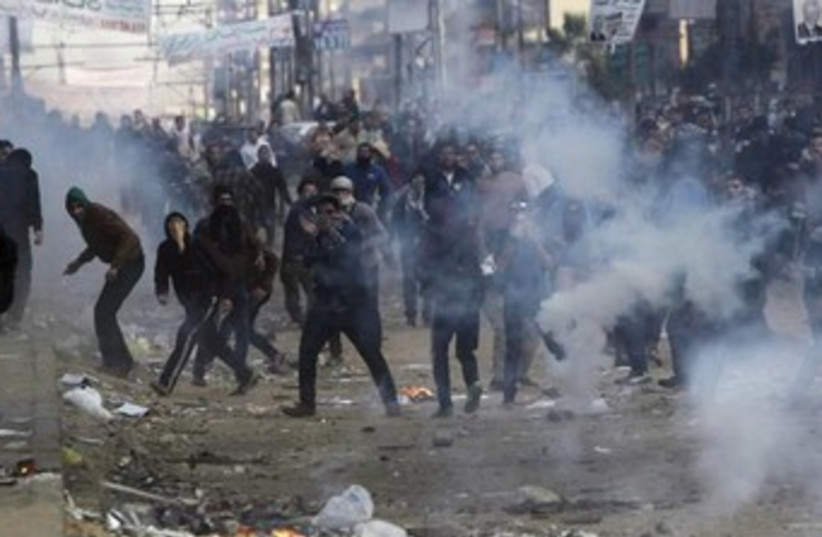 Protests in Cairo January 2014 370 (photo credit: Reuters)