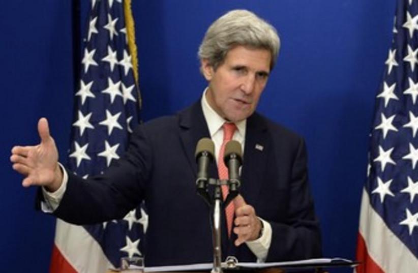 US Secretary of State John Kerry, January 5, 2014. (photo credit: Matty Stern/US Embassy Tel Aviv)