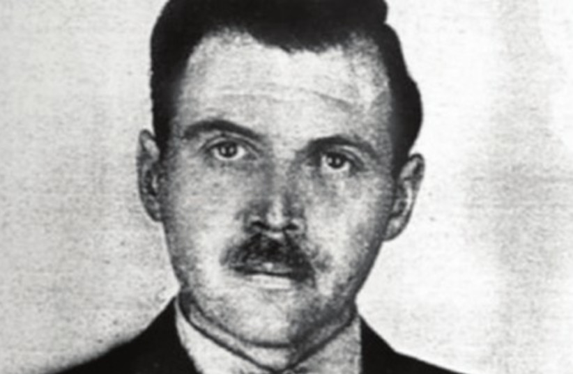 A photo of Josef Mengele taken by a police (photo credit: wikipedia)