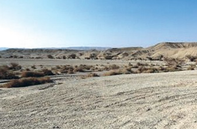 The Negev desert may soon be traversed by a rail line to Eilat (photo credit: Dov Grinblatt)