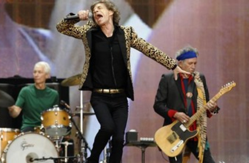 The Rolling Stones perform on stage (photo credit: Reuters)