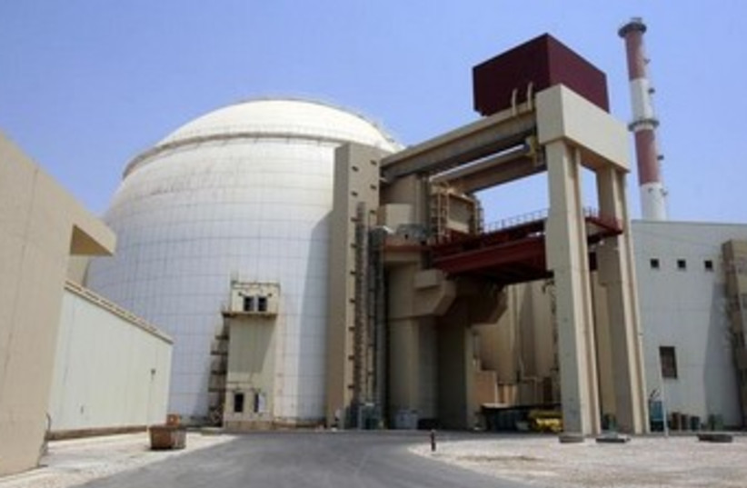 Bushehr nuclear power plant south of Tehran. (photo credit: REUTERS)