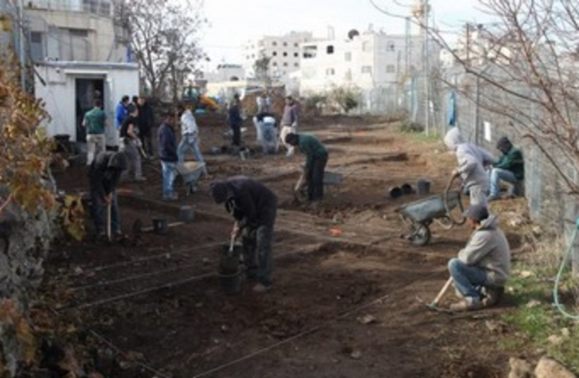 Archeological dig that began in Hebron this week. (photo credit: Courtesy David Wilder)