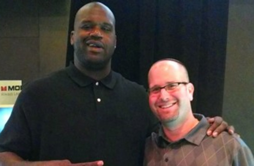 Shaquille O'Neal (photo credit: Courtesy Rabbi Jason Miller)