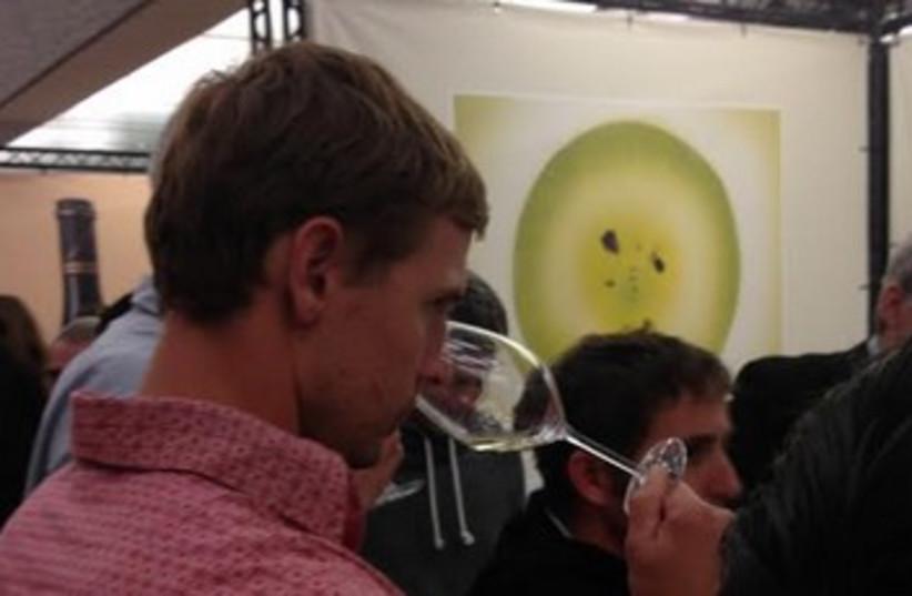 Man drinking wine (photo credit: niv elis)