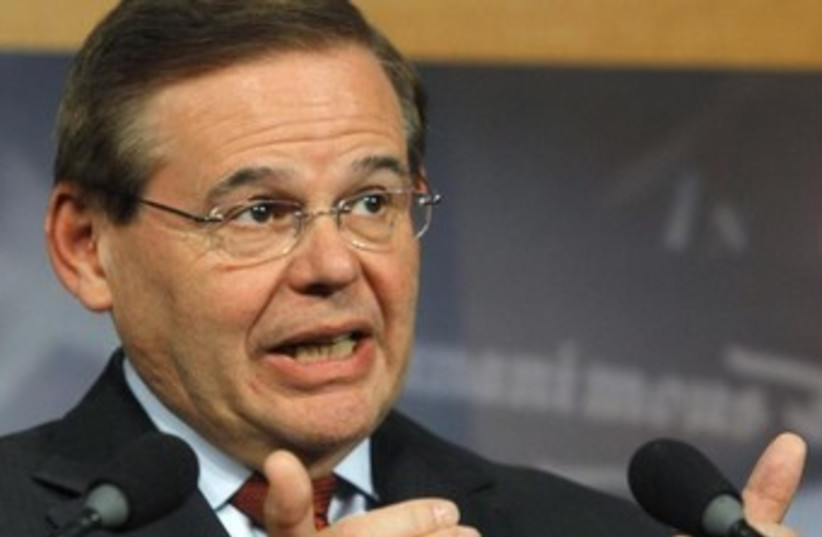 Senate Foreign Relations Committee Chairman Robert Menendez. (photo credit: REUTERS/Gary Cameron)